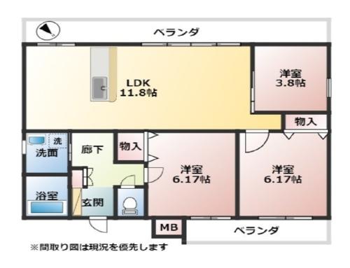 (仮)I氏牧港共同住宅 [ 3F号室 ]